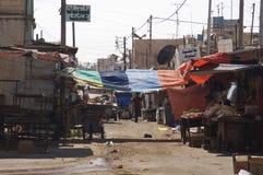 Campamento de refugiados en Irbid, Jordania fotos de archivo
