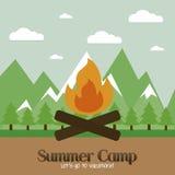 Campamento de verano Fotografía de archivo libre de regalías