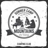 Campamento de verano Ilustración del vector Imágenes de archivo libres de regalías