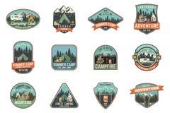 Campamento de verano Ilustración del vector Concepto para la camisa o logotipo, impresión, sello o camiseta Foto de archivo