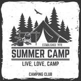 Campamento de verano Ilustración del vector Concepto para la camisa o logotipo, impresión, sello o camiseta Fotografía de archivo