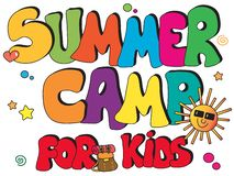Campamento de verano para los niños ilustración del vector