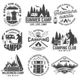 Campamento de verano Vector   ilustración del vector