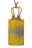 Campana asiática amarilla del templo Imagenes de archivo
