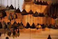 Campana birmana del tempio Fotografia Stock Libera da Diritti