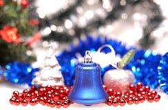 Campana blu per il Natale Fotografie Stock Libere da Diritti
