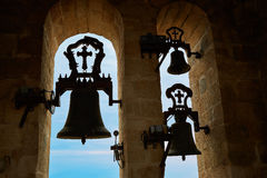 Campana Caceres di Concatedral de Santamaria Belfry immagini stock