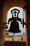 Campana Caceres di Concatedral de Santamaria Belfry fotografia stock