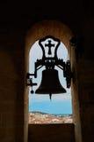 Campana Caceres di Concatedral de Santamaria Belfry fotografia stock libera da diritti