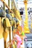 Campana colorida del oro Fotografía de archivo