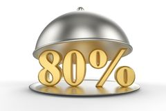 Campana de cristal del restaurante con el 80 por ciento de oro de la muestra Imagenes de archivo