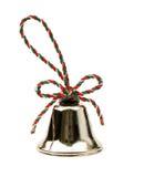 Campana de la Navidad aislada en el fondo blanco Fotos de archivo libres de regalías