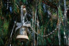 Campana del giocattolo dell'albero di Natale Immagini Stock Libere da Diritti