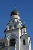 Campana del tempio al cimitero di resurrezione di Rogozhskoe a Mosca Fotografie Stock