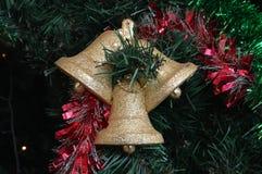 Campana della decorazione del nuovo anno e di Natale Fotografie Stock
