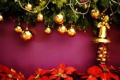 Campana delle decorazioni di Natale Fotografia Stock