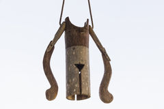 Campana di bambù Immagini Stock