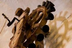 Campana di legno dell'altare a Santa Catalina Monastery Immagini Stock Libere da Diritti