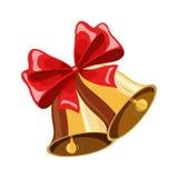 Campana di Natale con l'arco Fotografie Stock