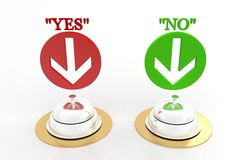 Campana di ricezione con lo sì o no Fotografia Stock Libera da Diritti