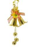 Campana dorata del fiore del nuovo anno Fotografie Stock Libere da Diritti