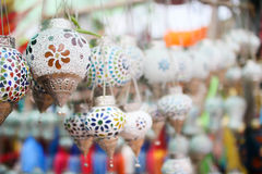 Campana festiva china blanca brillante Fotos de archivo libres de regalías