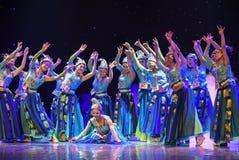 Campana-mattina d'argento nella danza popolare di foresta-cinese Fotografia Stock Libera da Diritti