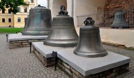 campana nel cortile del Cremlino. Fotografia Stock