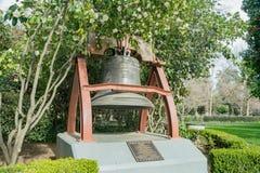 Campana storica del bronzo del regalo della Francia Immagine Stock