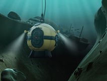 Campana subacquea Immagini Stock