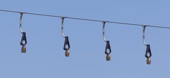Campanaccii delle alpi su uno ski-lift Fotografia Stock Libera da Diritti