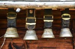 Campanaccii svizzeri tradizionali Fotografia Stock Libera da Diritti