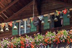 Campanaccii svizzeri tradizionali nella regione di Jungfrau switzerland Fotografia Stock