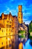 Campanario, Brujas, Bélgica Imagenes de archivo