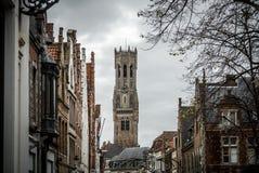 Campanario de Brujas, Bélgica Imagen de archivo