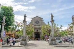 Campanario de Dumaguete på den Dumaguete staden Fotografering för Bildbyråer