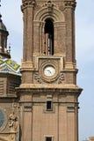 Campanario de la basílica del Pilar Imagenes de archivo