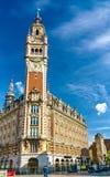 Campanario de la Cámara de Comercio Un edificio histórico en Lille, Francia fotografía de archivo