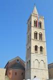 Campanario de la catedral de Anastasia en Zadar Imagen de archivo