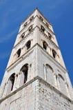 Campanario de la catedral de Anastasia en Zadar, Croacia imagenes de archivo