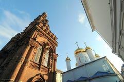 Campanario de la catedral de la epifanía, Kazán, Rusia Imagen de archivo libre de regalías