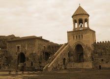 Campanario de la catedral de Mtskheta Svetitskhoveli foto de archivo