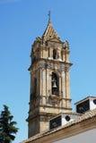 Campanario de la iglesia, Cabra Foto de archivo