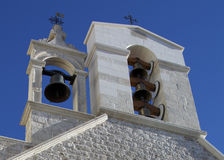 Campanario de la iglesia de Santa Barbara en Sibenik, Croacia Fotografía de archivo