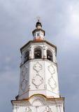 Campanario de la iglesia rusa antigua en Totma imágenes de archivo libres de regalías
