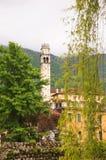 Campanario de San Giacomo, Polcenigo Foto de archivo libre de regalías