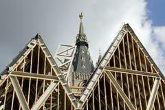 Campanario de una iglesia de Gante Belgiom Imagen de archivo libre de regalías