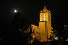 Campanario de una iglesia de Vilafant Imagen de archivo libre de regalías