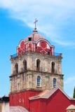 Campanario de una iglesia rojo en el montaje Athos Fotografía de archivo libre de regalías
