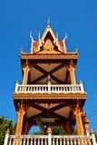 Campanario de una iglesia tailandés Fotografía de archivo